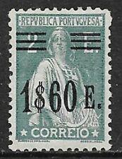 PORTUGAL 1929 Ceres 1E.60 on 2E. Grey-Green SG 777 MH/* (CV £75)