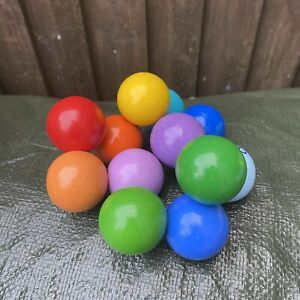 The Manhattan Toy Company Rainbow Chunky Wooden Beads Baby Tactile Toy