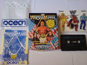 WWF WRESTLE MANIA + FREE WWF PIN BADGES - OCEAN - ZX SPECTRUM 128K/+2/+3
