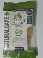 Exp 10/2023 Natural Care+ Repels Flea & Tick Collar For Cats, 4 Months, 0.8oz