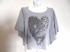 Girls Batwing Top - Grey - Size: Youth M