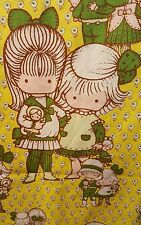 1973 Joan Walsh Anglund Twin Flat Sheet or Fabric Wolfpit Enterprises Characters
