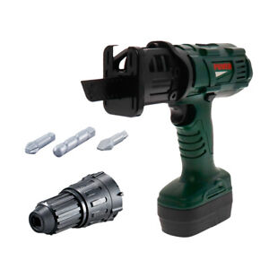 Power Construction Tool Electric Chainsaw Toy Realistic Sounds Kids Pretend