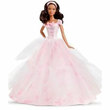 Barbie 2016 Birthday Wishes Doll Wearing Pink Dress w/ Confetti Print - Brunette