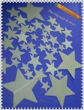 40 Leuchtsterne Sternenhimmel Deko Sticker Aufkleber Kinderzimmer in 3 Größen