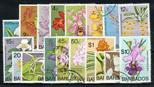 More details for barbados 1974-77 orchids set to $10 fu cds
