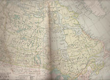 Dominion Canada Newfoundland Century Atlas 1897 Antique Map #59 11 3/4 x 16