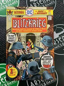 BLITZKRIEG #1 1976 VF 8.0 Joe Kubert Bronze Age DC War Comics