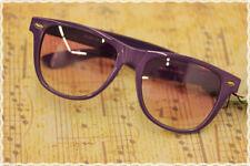 Occhiali montatura rettangolare colore lilla con lente trasparente lilla
