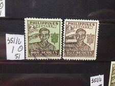 SELLOS DE FILIPINAS. . USADOS. YVERT Nº 351/2