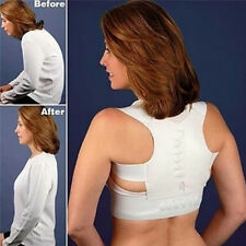 Women Men Adjustable Magnetic Posture Back Support Brace Shoulder Belt Corrector