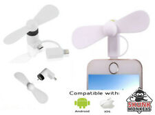 Portable Mini USB White Fan For Apple Android iPhone Samsung HTC LG Tablet iPad