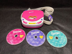 Barbie For Girls ~ Pretend CD Player (1995) Mattel BE-150 (Works) With 3 Discs