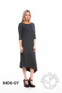 NEW DOWN TO EARTH GREY BAMBOO LONG DRESS!!  SIZES 8