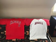 (2) lot unused Angels shirts - Cotton, Large - Pujols #5