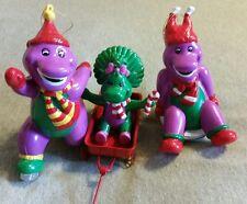 BARNEY & BABY BOP 3 christmas ornaments xmas 2001 lyons