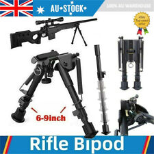 """Adjustable 6"""" to 9"""" Height Sniper Hunting Rifle Bipod Sling Swivel Mount Stand"""