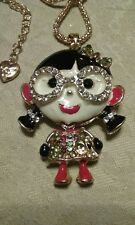 Betsey johnson  China girl w/glasses necklace