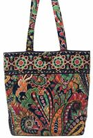 VERA BRADLEY Tote with Toggle Shoulder Bag in VENETIAN PAISLEY Retired VGC!
