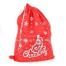Father Christmas Santa Sack Stocking Socks Gifts Bag Red Felt Xmas Accessories