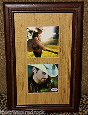 BRAD PAISLEY signed autographed THIS IS COUNTRY MUSIC CD photo FRAMED PSA DNA
