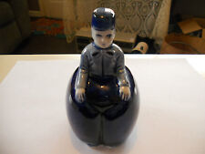 """* Beautiful Vintage 4"""" blue Occupied Japan? Dutch Man Boy collectible bell *"""