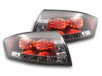 BLACK LED REAR TAIL LIGHTS WITH LED INDICATORS FOR AUDI TT 8N 1998-2006