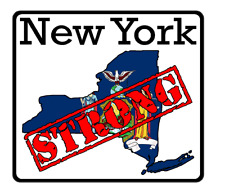 New York State (K33) Strong Flag Vinyl Decal Sticker Car/Truck Laptop/Netbook Wi