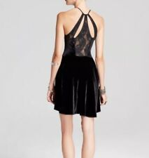 Free people Lace Back Velvet Holiday Party Dress XS