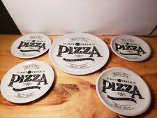~~~NEW~~~365 CERAMIC GALLERY PIZZA TRAY AND 4 PLATES  SET- FUN DESIGN