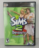 The Sims 2 University Expansion Pack EA PC CD-ROM Video Game 2005