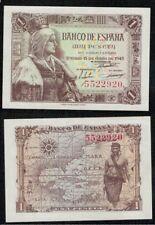 "Año 1945. 1 peseta Sin serie nº 5522920 ""Isabel La Católica"". SIN CIRCULAR."