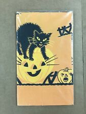 """Vintage Halloween Table Cover 54x104"""" Large Woolworth In Package"""