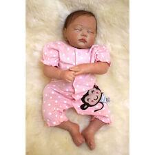 "19"" Reborn Baby Girl Handmade Doll Newborn Lifelike Vinyl Silicone Doll Gift"
