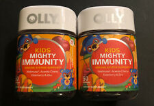 Lot Of 2 Kids Mighty Immunity Support - 50 Gummies EACH - Cherry Berry- Exp 4/20