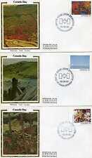 "Canada 955-66 Canada Day 1982, Twelve Colorano ""Silk"" Cachet, FDCs"