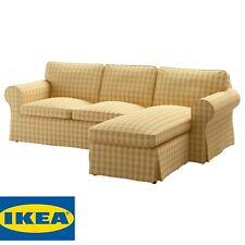 Ikea Ektorp Loveseat Chaise Sofa 3 Slipcover Cover Skaftarp Yellow 803.398.32