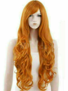 Hot Style Wig New Fashion Gorgeous Women's Fluffy Long Orange Curly Full Wigs