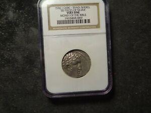 TYRE Shekel (126 BC- 55 AD) NGC VF AR Silver Money of the Bible Jesus SLABZ
