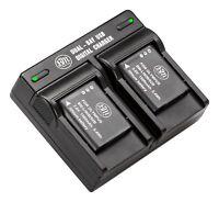 BM LI90 LI-92B 2X Batteries & Dual Charger for Olympus Tough TG1 TG2 TG3 TG4 TG5