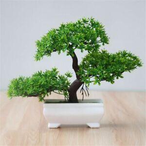 Künstliche Pflanzen Bonsai-Baum-Topf Einladende Kiefer Emulieren Bonsai mit Topf