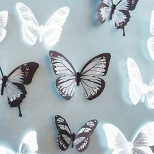 18Pcs 3D Butterfly Wall Stickers PVC Kids Room Decal Home Decoration DIY Decor