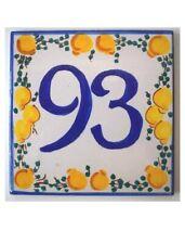 Numero Civico In Ceramica 15*15cm Tipo Dipinto A Mano Con Stampa Alta...
