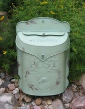 Lime GREEN Metal Letter MAILBOX*Kitchen/Porch*Primitive/French Country Farmhouse
