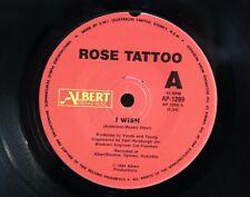 """Rose Tattoo """"I Wish / Wild One"""" Australian Pressing 1984 Albert Label (N Mint)"""