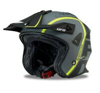 UFO Sheratan Urban Street Trials Helmet Jet Matt Black  - All Adult Sizes