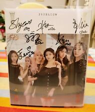 """K-Pop 1x Signed Signierte EVERGLOW 2nd Album """"HUSH"""" TOP! All member signed!"""