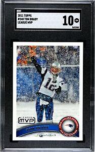 2011 Topps Tom Brady League MVP #240 Patriots SGC 10 GEM MT