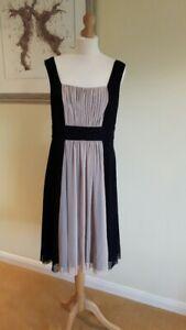 Teatro Black & Blush Beaded Cocktail / Evening Dress - Size 14