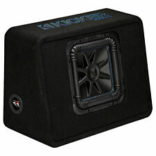 """Kicker 44TL7S102 Loaded 600W RMS L7S 10"""" Vented Subwoofer Enclosure Box"""